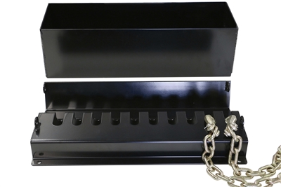 "Weigh Safe Hitch >> Steel Chain Storage Rack & Tray 24"" Length 